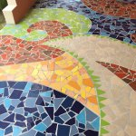 The mosaic terrace of our room