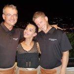 My waiters Thierry, Eva , Kosta