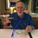 David enjoying his Black Buffalo Cocktail