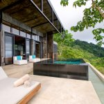 Master Suite private plunge pool & lounge area