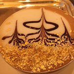 Cappuccino with gold flake
