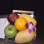 welcome basket of fruits