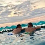 beach club at sunset