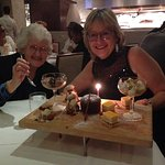 Mum and I enjoying our dessert extravaganza