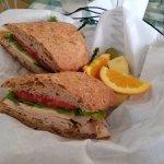 Crowle Sandwich--turkey, muenster, multi-grain French bread