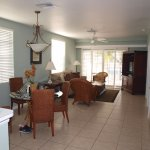 Spacious well furnished dining and sitting room