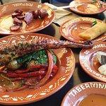 Octopus, chorizo and empanadas