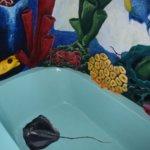 Custom bathtub in the Coral Suite (private suite in the The Villa)