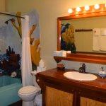 En-suite bathroom in the Coral Suite (in the Villa)