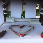 Gabriel's perfect touch at our cabana!