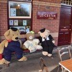 Teddy awaiting their next turn as short of volunteers!!