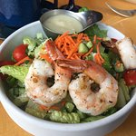 Firefly salad with grilled shrimp