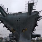Drive right under the USS Midway!