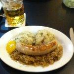 Weisswurst platter smiling at me.