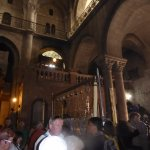 Queues at stairs leading up to the site of Calvary(Golgotha)