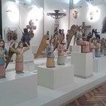 wooden sculptures of angels