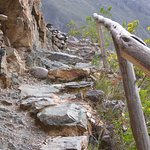 The footpath up the hill opposite Ollantaytambo - one hour's walk quite steep in places