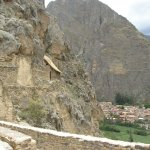 Footpath up to the granaries opposite Ollantaytambo fortress 2