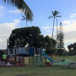 Workers installing new playground at Poipu Beach Park