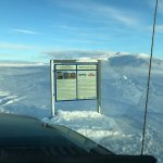 """Entrance sign to road to Thingvellir Glacier stating it is """"OFF-ROAD."""""""
