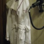 Robe to wear in the bathroom