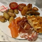 Amazing breakfast! The salmon, meats and waffles were fantastic!