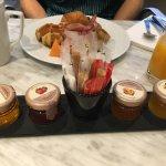 Mini jams on every table, so cute!