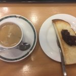 red bean paste with toast & fresh brewed coffee