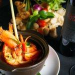 A tasty spicy Tom Yam Dish