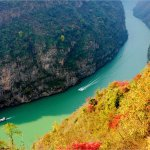 The Wu Gorge View in Winter of the Yangtze Three Gorges