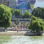 The very tip of Square du Vert Galant at the end of the Ile de la Cite, providing picturesque vi