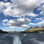 view from the water taxi towards Queenstown