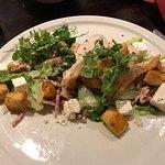 Chicken Cesar salad with addition feta.