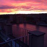 sun set from hotel terrace