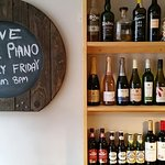 Great selection of wines and fantastic beer on tap