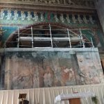la struttura di protezione del mosaico del catino absidale