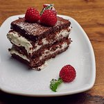 House receipe- Chocolate layer souffle with mascarpone and raspberries