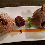 Poulet au curry et mousse au chocolat