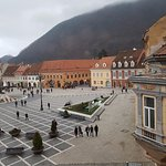 Rhe central square of Brasov from the room