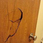 Bathroom door in room 226