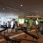 Gym just next to main pool