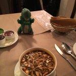 Thai soup and Papadams