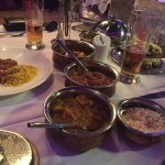 Set menu in the Gold Room - Pops, Starters, 3 Mains, Rice and Nans plus the obligatory Kingfishe