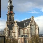 View of Westerkerk from balcony