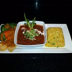 Indian Vegan Set featuring our Super Power Rice with Ginger and Garlic