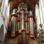 The famous 30 meter high Müller organ in the St Bavo Church