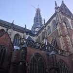 Perspective of St Bavo Church in Haarlem