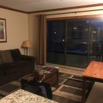 Breckenridge Studio and view from small balcony. Wonderful stay!