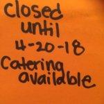 Seasonally closed