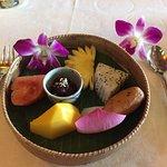 fresh fruit and Khmer sweet
